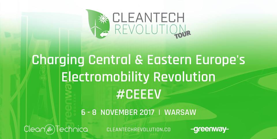 West Meets East: Charging Central & Eastern Europe's Electromobility Revolution Conference taking place in Warsaw, November 6-8, 2017
